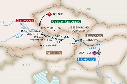 Danube River Map